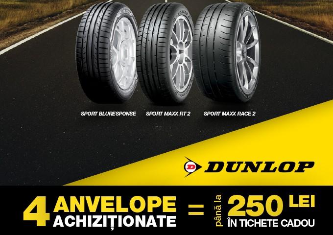 Bucură-te de oferta noastră la anvelopele de vara Dunlop!